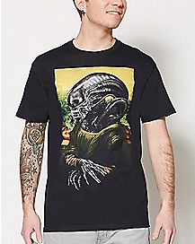 Mona Lisa Alien T Shirt