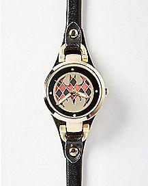 Skinny Strap Harley Quinn Watch
