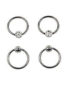 Multi-Pack Captive Rings 2 Pair - 16 Gauge