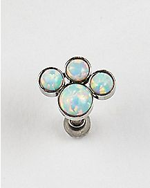 Opal-Effect Cartilage Earring - 16 Gauge