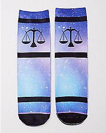Libra Zodiac Crew Socks