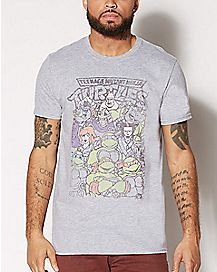FR TMNT RETRO CARTOON GRAY MD