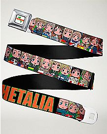 Chibi Character Seatbelt Belt - Hetalia: Axis Powers