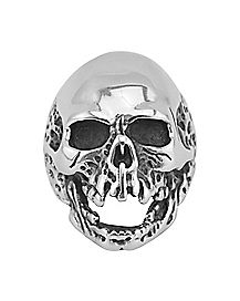 Open Mouth Skull Ring - Size 12