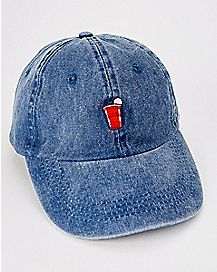 Beer Pong Denim Dad Hat