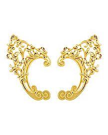 Gold Filigree Elf Ear Cuffs