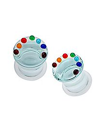Clear Glass Chakra Plugs