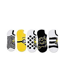 No Show Minion Socks 5 Pack - Despicable Me 3