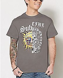 Skull Split Sublime T Shirt