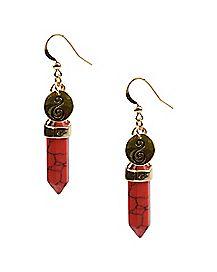 Orange Sacral Chakra Dangle Earrings