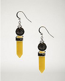 Solar Plexus Yellow Chakra Dangle Earrings