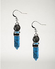 Turquoise-Effect Chakra Dangle Earrings