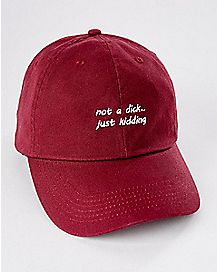 Not a Dick Just Kidding Dad Hat
