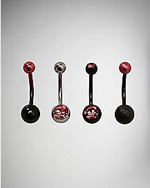 Multi-Pack Ombre Belly Rings 4 Pack - 14 Gauge