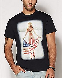 Woman American Flag T Shirt