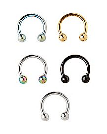 Multi-Pack Horseshoe Rings 5 Pack - 16 Gauge