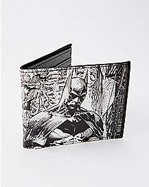 Black and White Batman Bifold Wallet