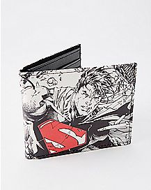 Black and White Superman Bifold Wallet