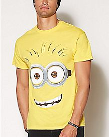 Minion Face T Shirt- Despicable Me