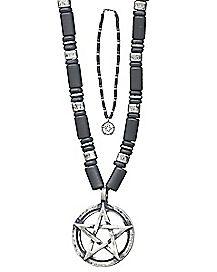 Beaded Pentagram Necklace