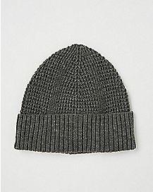 Ribbed Cuff Beanie Hat
