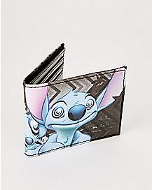 Swirly and Stitch Bifold Wallet - Lilo & Stitch