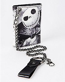 Watercolor Jack Skellington Chain Wallet - The Nightmare Before Christmas