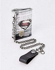 Justice League Superman Chain Wallet - DC Comics
