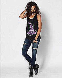 Amuck Witch Hat Tank Top - Hocus Pocus