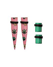Alien Pizza Plug and Taper Set