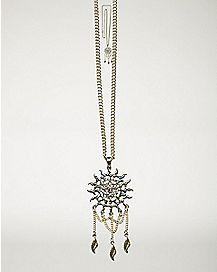 Gold Dreamcatcher Sun Necklace