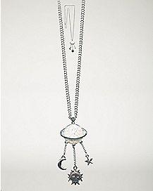 Saturn Dangle Charm Necklace