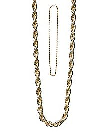 Gold-Tone Rope Chain Necklace