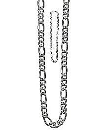 Silvertone Figaro Chain Necklace