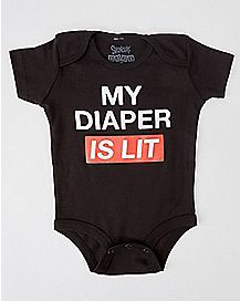 My Diaper Is Lit Baby Bodysuit