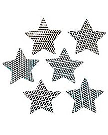 Hologram Star Nipple Pasties - 6 pack