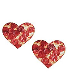 Pizza Heart Nipple Pasties