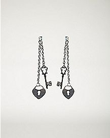 Lock and Key Dangle Earrings