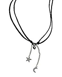 Alien Star Moon Adjustable Necklace
