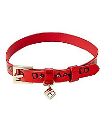 Damaged Harley Quinn Choker Necklace - DC Comics