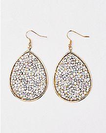 Gold-Plated Dangle Earrings