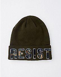 Green Resist Beanie Hat