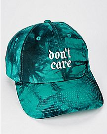 Don't Care Tie Dye Dad Hat