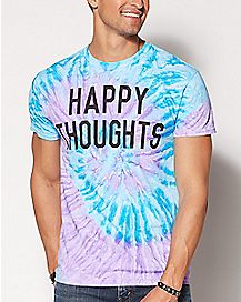 Happy Thoughts Tie Dye T Shirt