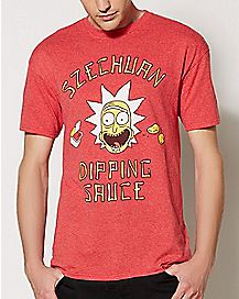 Szechuan Dipping Sauce T Shirt - Rick and Morty