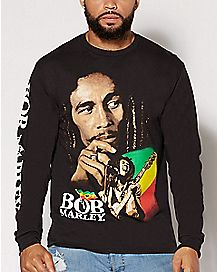 Long Sleeve Bob Marley T Shirt
