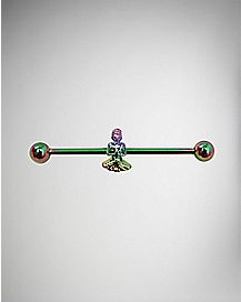 Rainbow Buddha Industrial Barbell - 14 Gauge