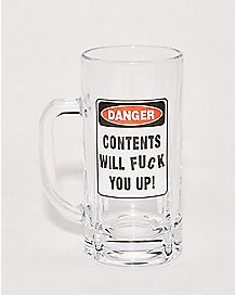 Contents Will Fuck You Up Beer Mug - 20 oz.