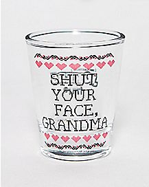 Impractical Jokers Shut Your face Shot Glass- 1.5 oz.