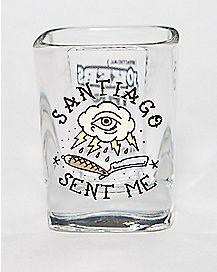 Impractical Jokers Santiago Sent Me Shot Glass- 2 oz.